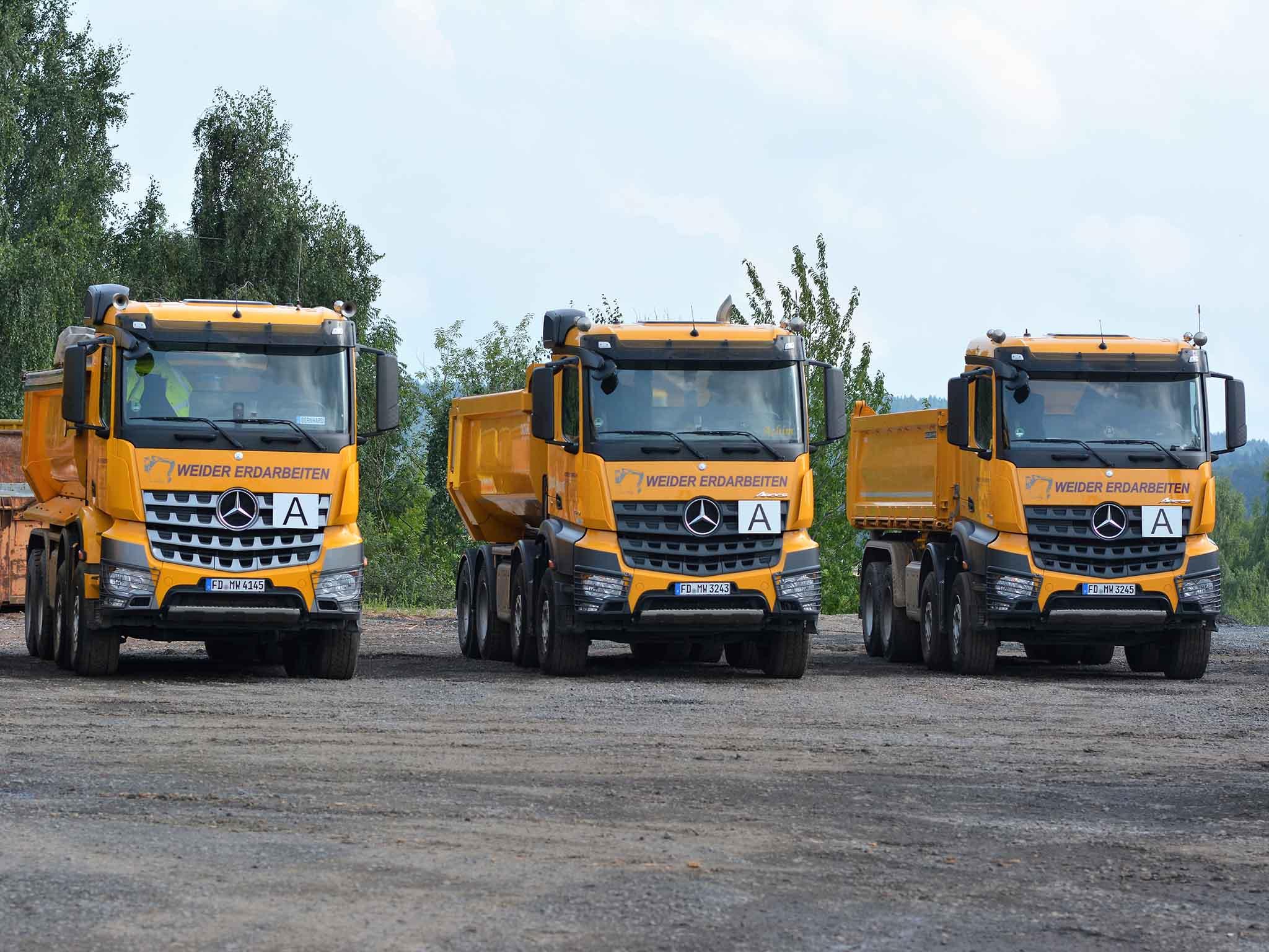 Transporte der Firma Weider-Erdarbeiten