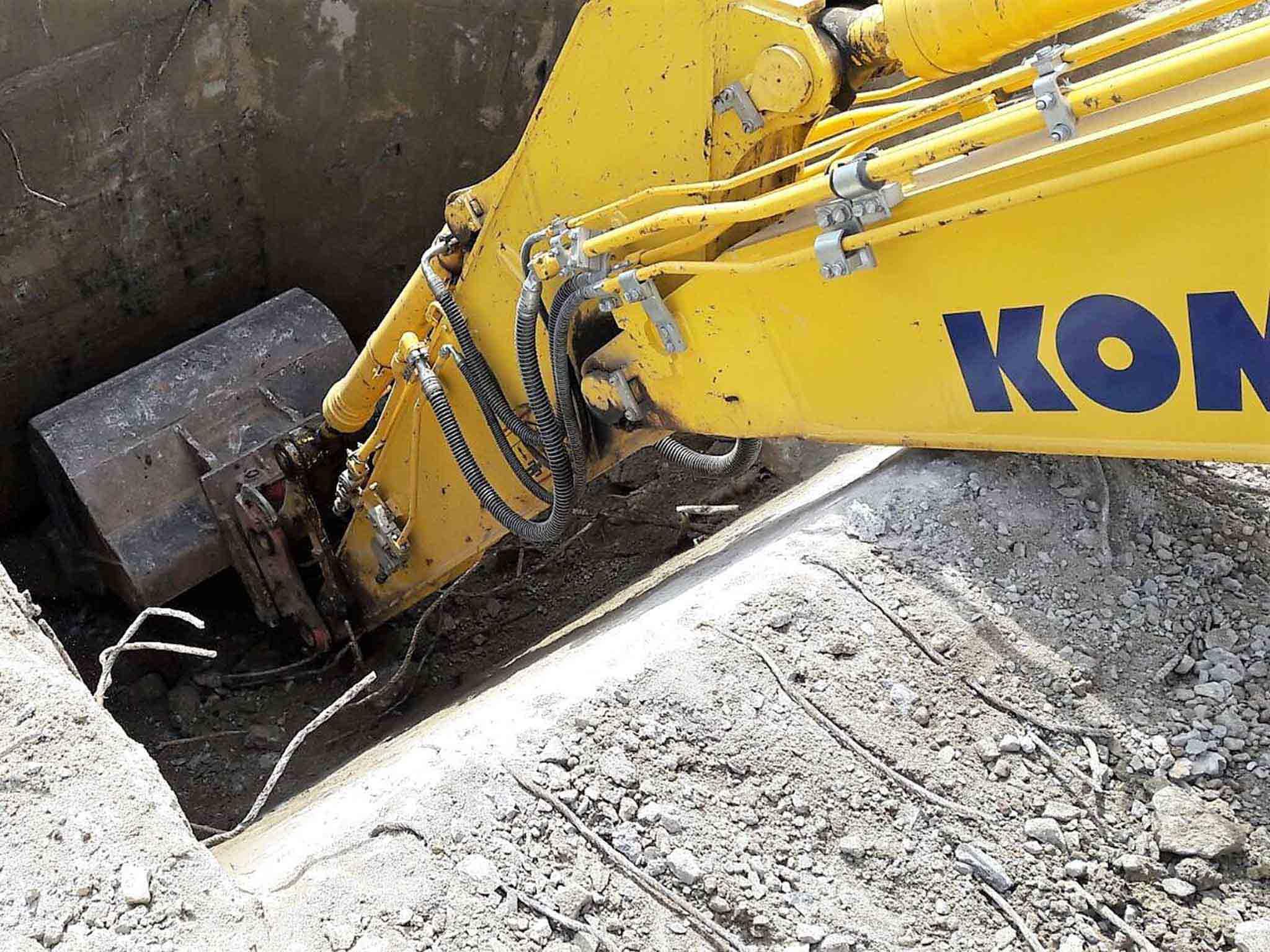Kanalbau der Firma Weider-Erdarbeiten